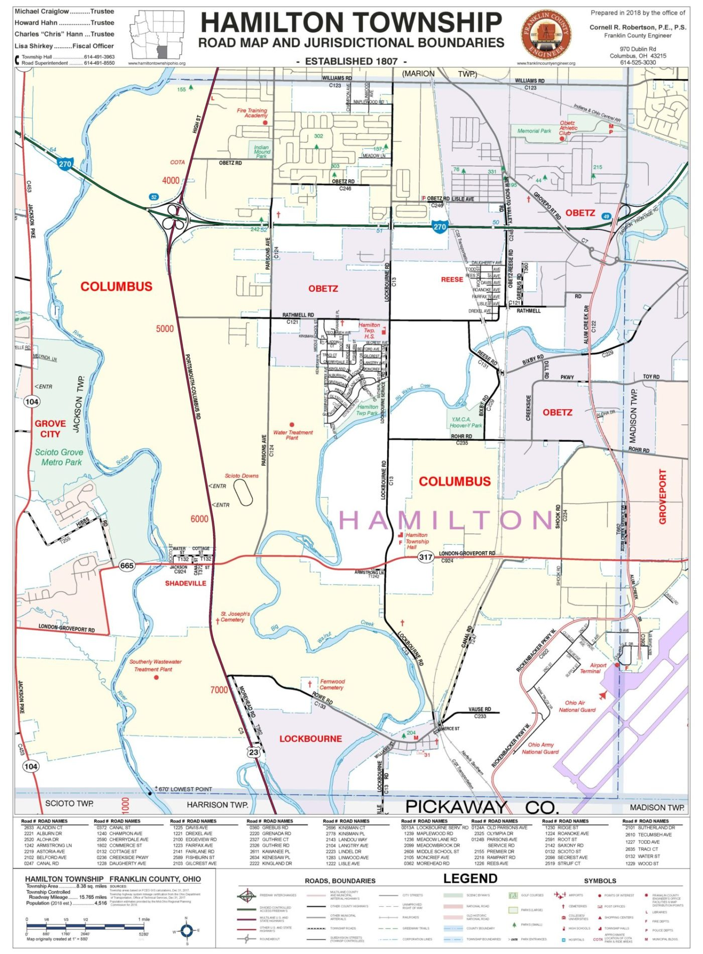 Fifth image of Hamilton County Nj with Township Maps – Franklin County Engineer's Office