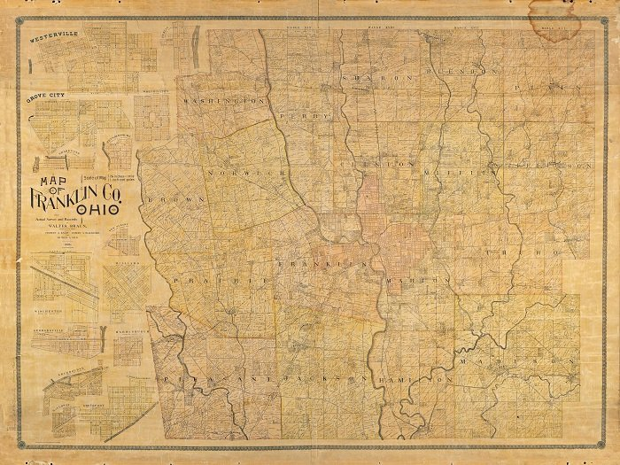 Historical maps and information franklin county engineers office 1895 property map of franklin county ohio malvernweather
