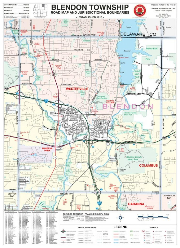 Franklin County Ohio Map Township Maps – Franklin County Engineer's Office