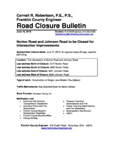 Current Construction Projects – Franklin County Engineer's